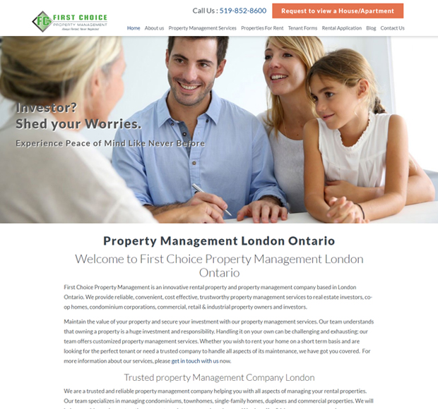 FIRST CHOICE PROPERTY MANAGEMENT INC